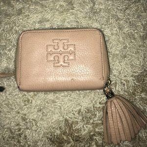 Light Pink Tory Burch Key Wallet.